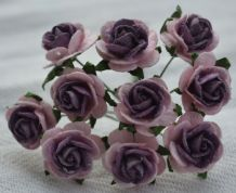1.5cm PALE PINK LILAC CENTER Mulberry Paper Roses